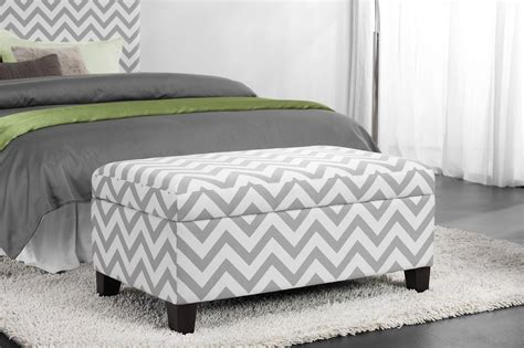 Chevron Storage Ottoman with Dorel Asia Chevron Storage Ottoman