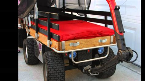 beach wagon electricscooterparts com support custom cartwheels wagon with trailer motorize youtube