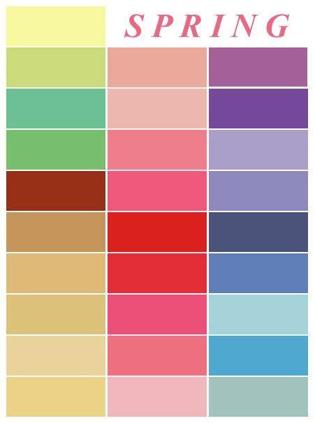 colors of spring spring palette spring color palette pinterest