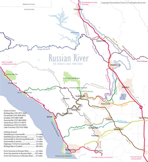 russia map river russian river detailed area map favorite places