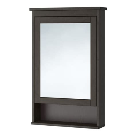hemnes mirror cabinet with 1 door black brown stain ikea