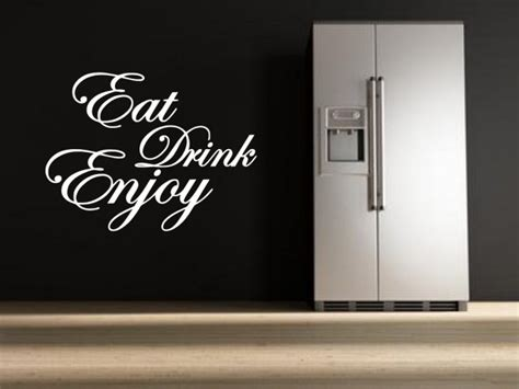 eat drink enjoy quote stickers kitchen dining room