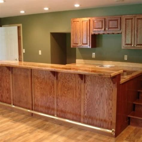 Custom Made Bar Counters Custom Oak Bar With Hickory Counter Top By Smith