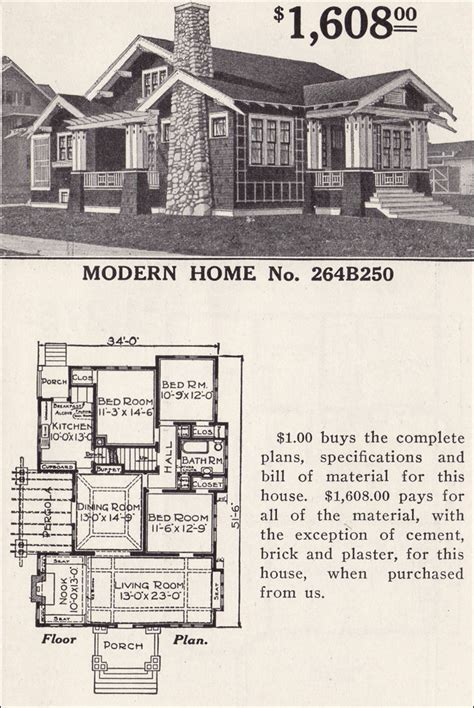 sears homes floor plans classic craftsman style bungalow sears ashmore modern