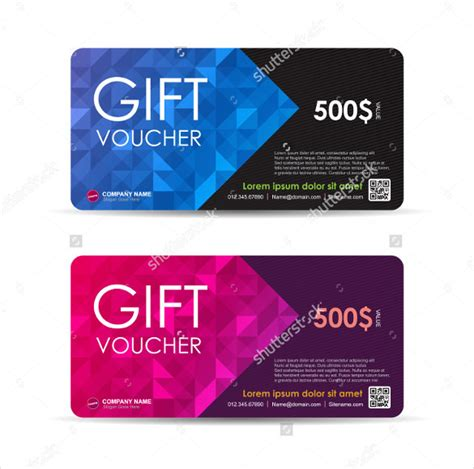 gift card pattern 51 gift voucher templates free sle exle