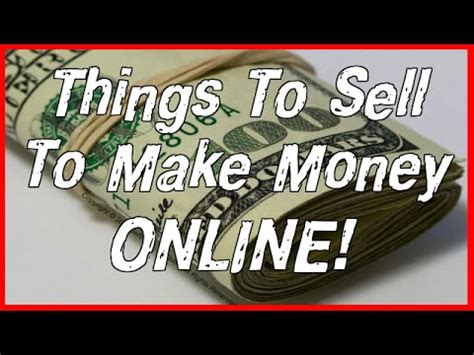 Selling Stuff Online To Make Money - things to sell to make money online keep 100 profit youtube