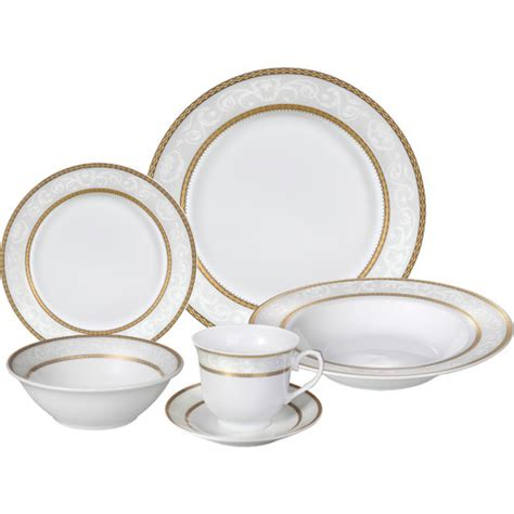 lorren home trends amelia 57 dinnerware set