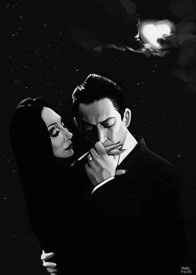 'Gomez and Morticia Addams' Poster by Brad Collins | Gomez