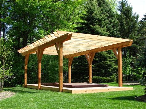 Deck With Pergola Plans Design Interesting Decks Pergolas Large Pergola Plans