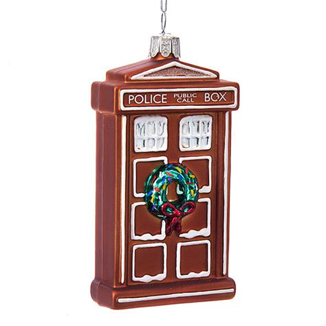 doctor who gingerbread tardis christmas ornament sci fi