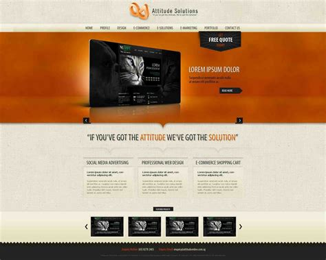 Website Homepage Templates Mayamokacomm Graphic Design Website Templates Free