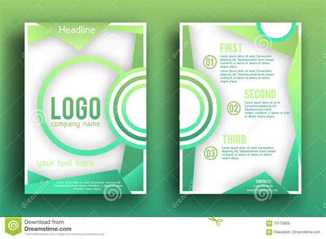 magazine pages layout design vector vector brochure design layout template stock vector
