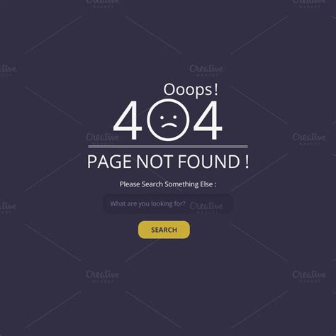 404 not found ooops 404 not found page web elements on creative market