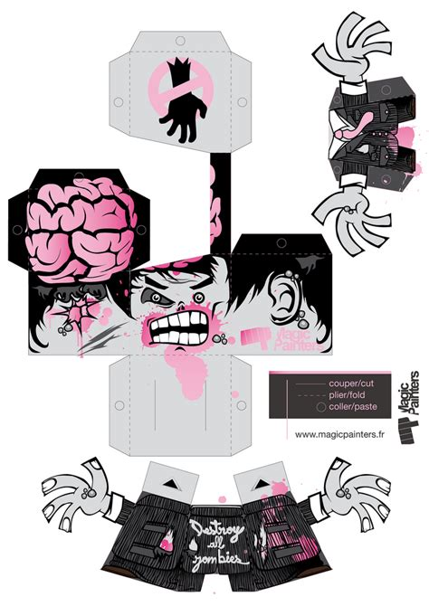 templates blogger horror destroy all zombies sp 233 cial halloween paper toys