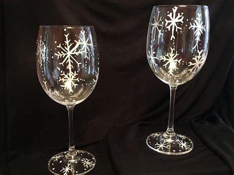 paint nite boston wine glasses paint nite snowflakes wine glasses