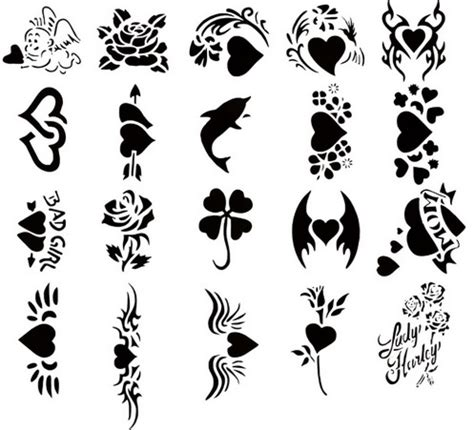 henna tattoo stencil print your own temporary inkntoneruk