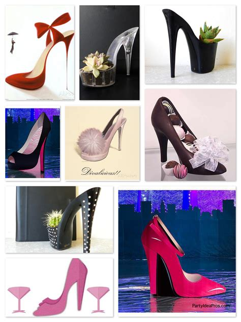 high heel birthday decorations shoe theme planning archives themes ideas
