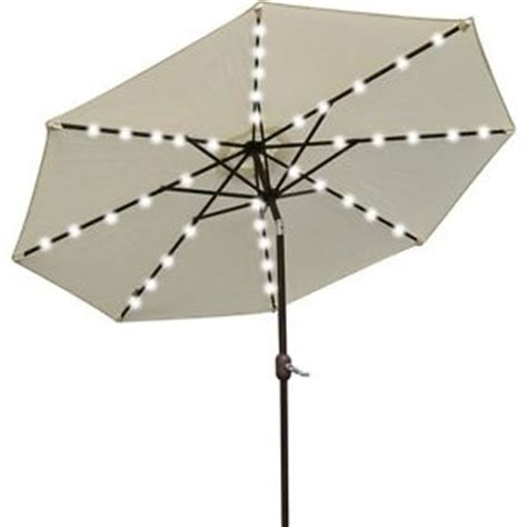 Patio Umbrella With Solar Lights Patio Umbrella Solar Lights Ebay