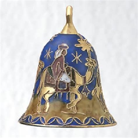 cloisonne wisemen kings bell christmas nativity ornament