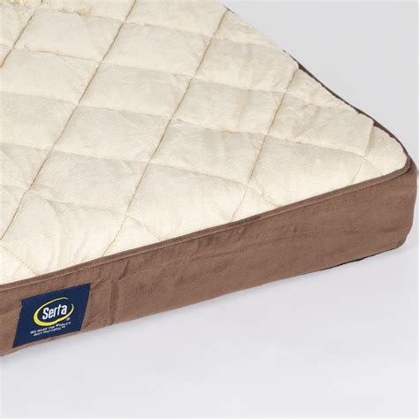 Serta Pillow Top Dog Bed | serta large quilted pillow top dog bed serta pet beds