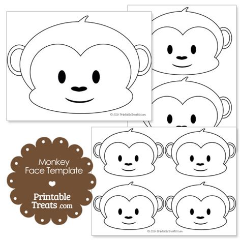 baby monkey face template monkey and face