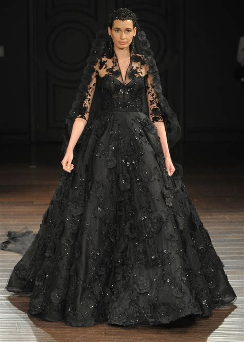 30 of the Most Stunning Black Wedding Dresses : Chic