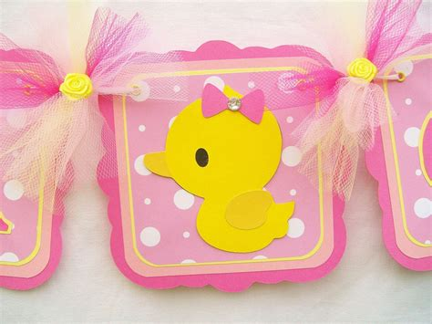 Duck Baby Shower Banner by Rubber Duck Banner Duck Banner Duck Baby Shower Rubber