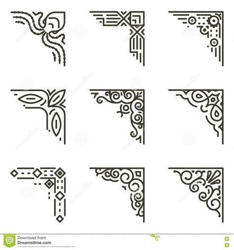 viol 237 n ilustraci 243 n en blanco y negro descargar vectores decoraciones para las esquinas de las hojas l 237 nea