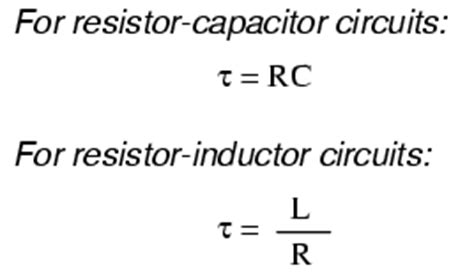 calculating capacitor time constant voltage and current calculations
