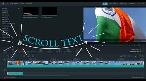 filmora tutorial youtube filmora scroll text effect tutorial hindi urdu youtube