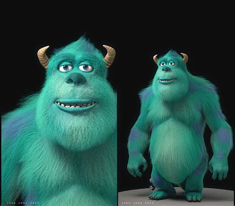 Inc Sulley monsters inc sulley model and fur 171 visual fx animation 3d vfxforge