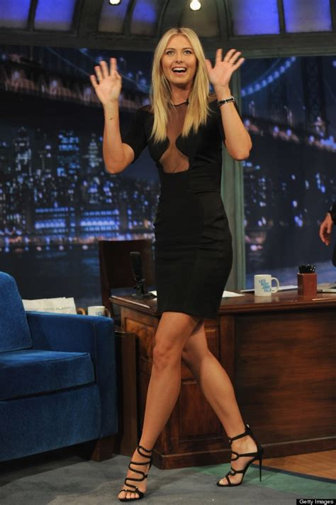 maria sharapova plays beer pong in lbd and heels