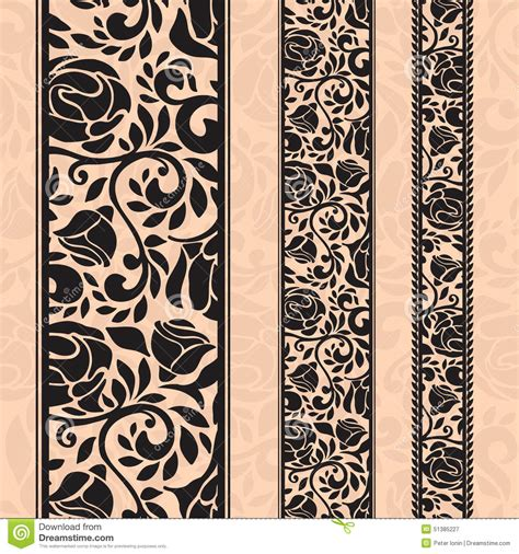 frame pattern decor vintage seamless decorative patterns in the form of strips