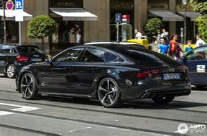 Yellow And Black Mustang Audi Rs7 Sportback 4 September 2014 Autogespot
