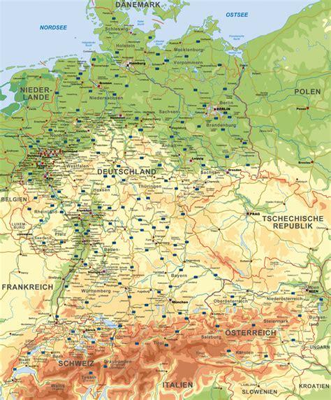 karta deutschland landkarte deutschland 214 sterreich