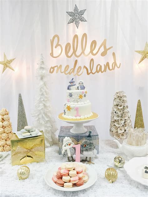 party themes in winter winter one derland birthday celebration pretty my party