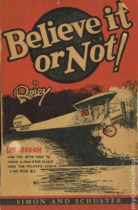 Or Not Search Believe It Or Not By Ripley 1929 Comic Books