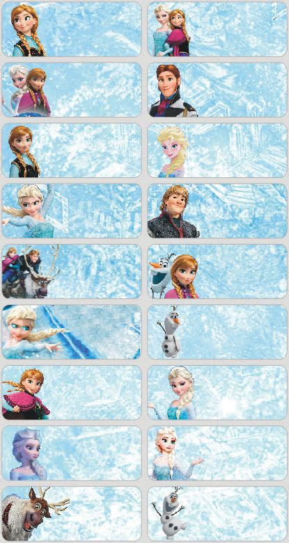 Label Nama Lego L By Labelle Shop 60 disney frozen pictures personalised name label ebay