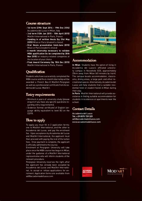 Mba Luxury Brand Management Italy by Mba Milan Luxury Brand Management