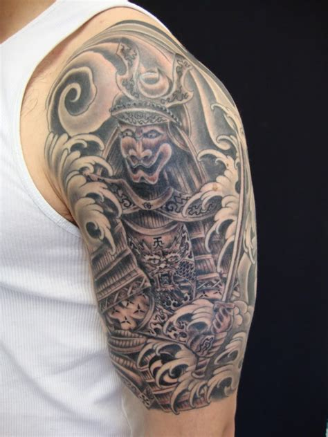 samurai sleeve tattoo tattoos on half sleeve tattoos samurai