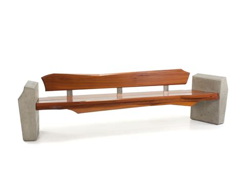 wood bench seating nico yektai outdoor bench 4 modern bench made of sapele wood concrete and