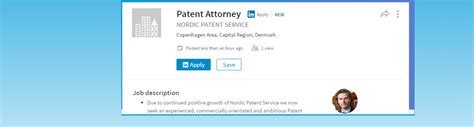 Patent Attorney Description by New Position At Nps Patent Attorney Nordic Patent Service