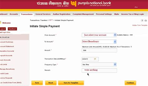 online reset pnb transaction password how to transfer money from pnb to other bank online in india