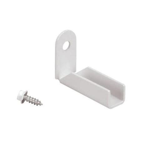 us door fence 1 in white fence mounting bracket mbfwus