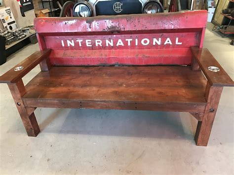truck tailgate bench international truck rustic tailgate bench ih scout
