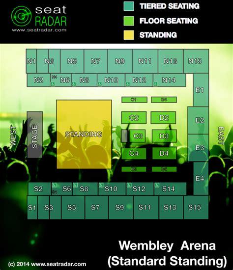 wembley seat finder wembley arena standard standing