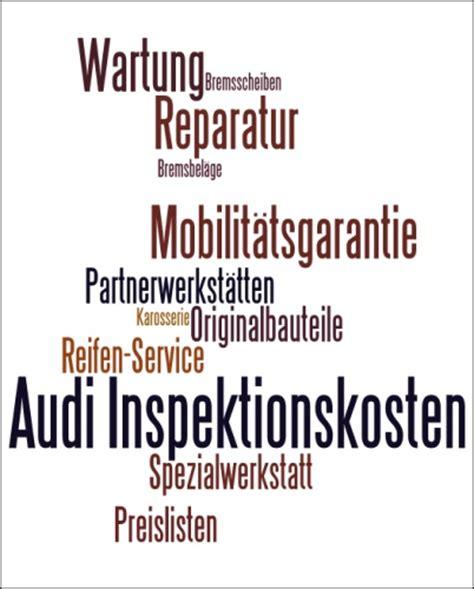 Inspektion Audi A6 by Audi Inspektion Kosten Auto Bild Idee