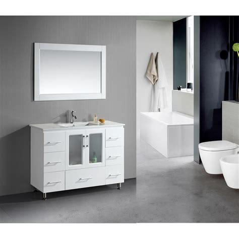drop in vanity sink design element stanton 48 quot single sink vanity set with
