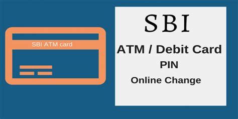 reset pin online how to reset sbi debit card pin online and offline