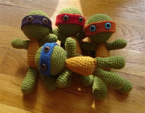 free pattern ninja turtle ninja turtles to knit and crochet free patterns